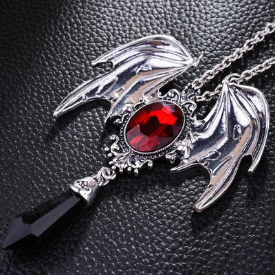 Bat Crystal Necklace