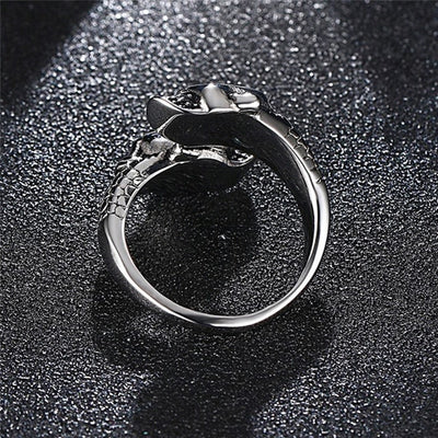 Free - Adjustable Skull Punk Ring