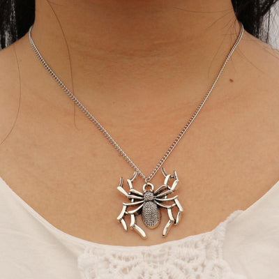 Goth Spider Pendant Necklace