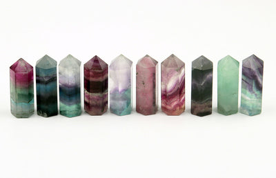 50*16mm Purple & GreennCarving Healing Crystal