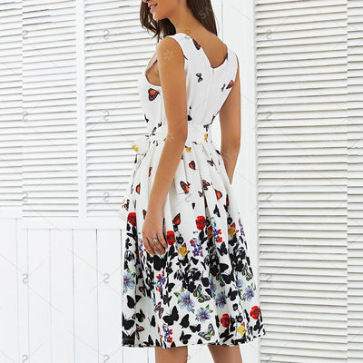 Butterfly Floral Dress