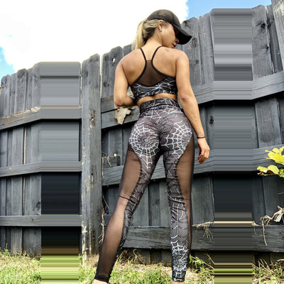 Spider Web Mesh Leggings