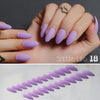 24pcs Matte Artificial Short Pointed Nails