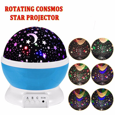 Moon in Starry Sky Rotation Light Projector Lamp