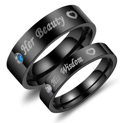 Titanium Steel Couple Ring