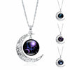 Crescent Moon With Zodiac Constellation Necklace