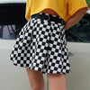 Pleated Checkered Skirt