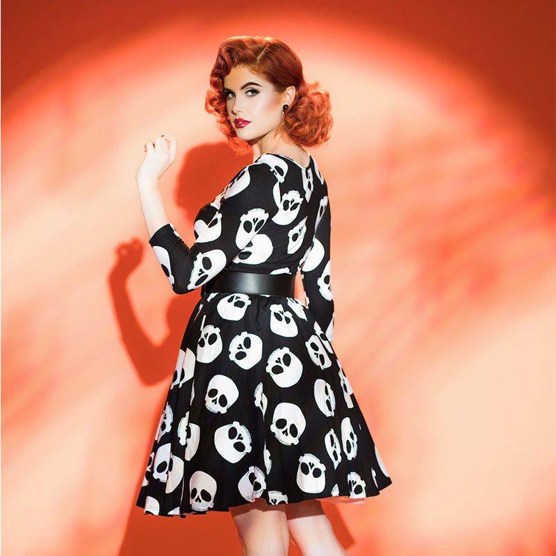 Plus Size Gown Skulls Dress