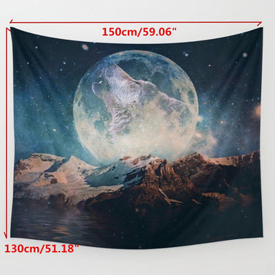 Big Moon Wall Hanging Tapestry Blanket