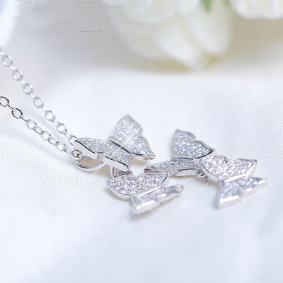 Silver Butterflies Necklace