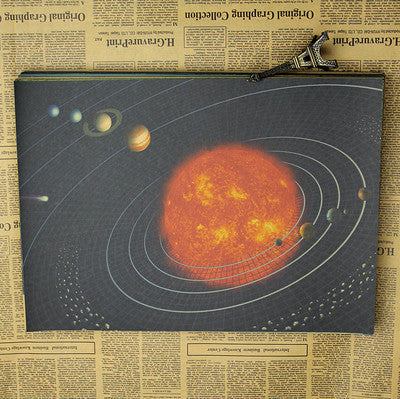 Retro Style Moon And Planets Wall Decoration