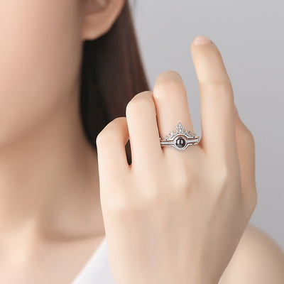 """100 languages I love you"" Ring"