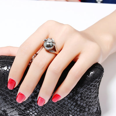Gothic Gray Peal Ring