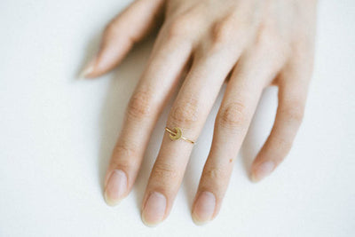 Cute Crescent Moon Ring