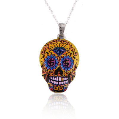 Vintage Skull Pendant Necklace