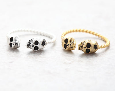 Free - Punk Skulls Open Ring