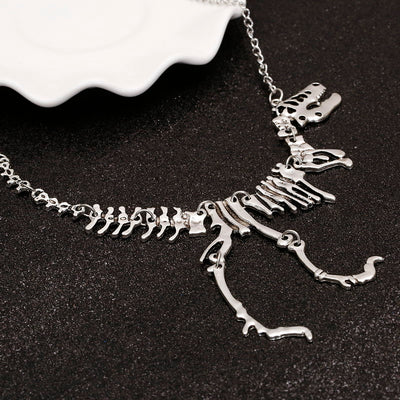 Skeleton Dinosaur Necklace