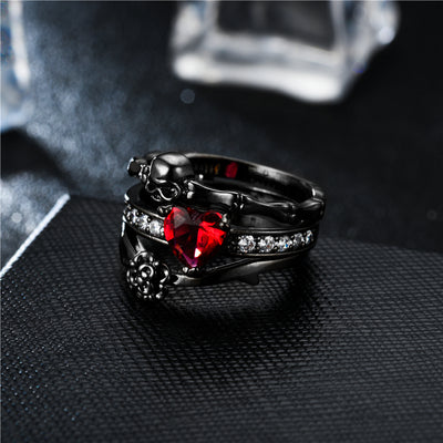 Devil Skull Ring Set