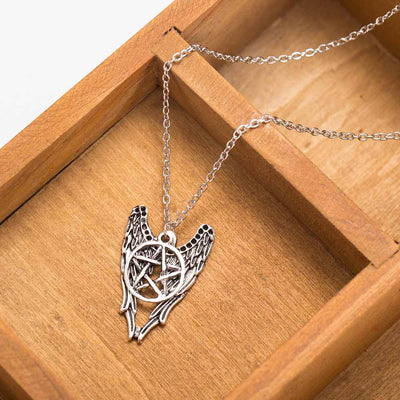 Angle Wing Pentagram Necklace