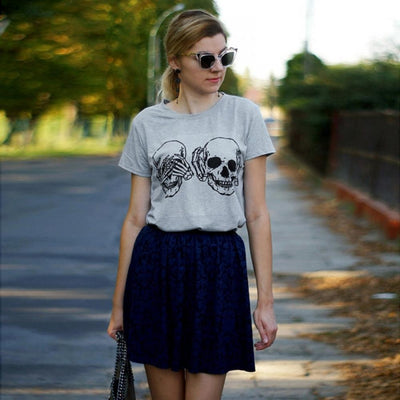 Two Skulls Casual T-shirt