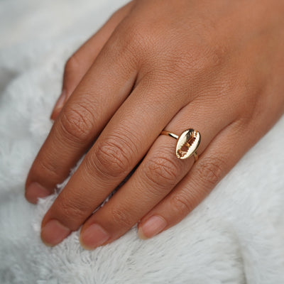 Antique Silver/Gold Shell Ring