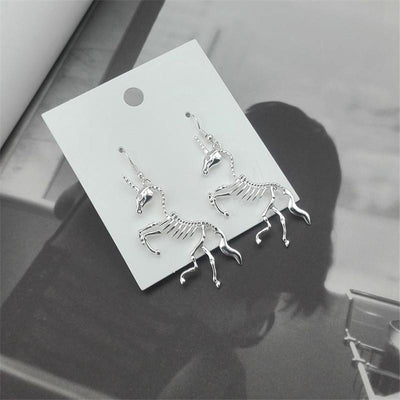 Unicorn Skeleton Drop Earrings