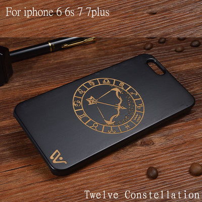 Tailor made 12 Zodiac Wooden iPhone Case