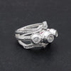 Silvery Skull Ghosts Ring