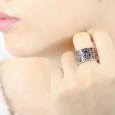 Pure 925 Sterling Skull Ring