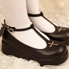 Gothic Cross T-strap Shoes