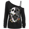 Happy Halloween Cool Skull Blouse Top