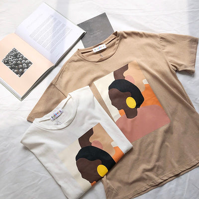 Vintage Abstract Painting T-Shirt