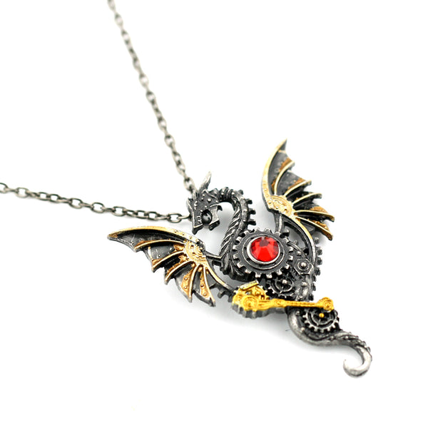 Vintage gear dragon necklace fancy n love if wish to order more than 10 please send a message to contactfancynlove aloadofball Gallery