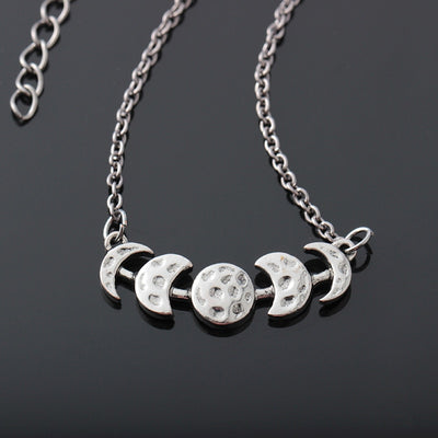Vintage Moon Phase Necklace