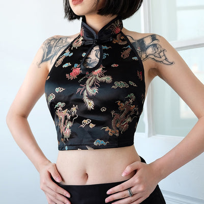 Embroidery Halter Top
