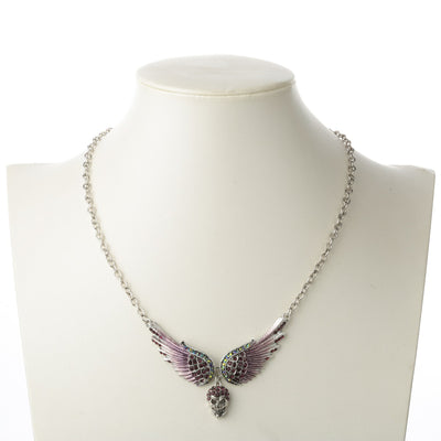 Angel Wings Skull Necklace