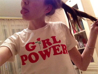 Red Rose Girl Power T-shirt