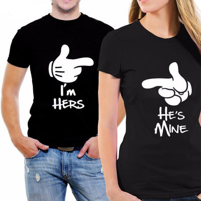 Couple T-Shirt Him and Her Fashion