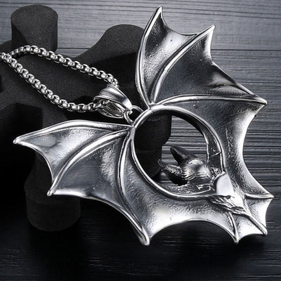 Bat Stainless Steel Necklace