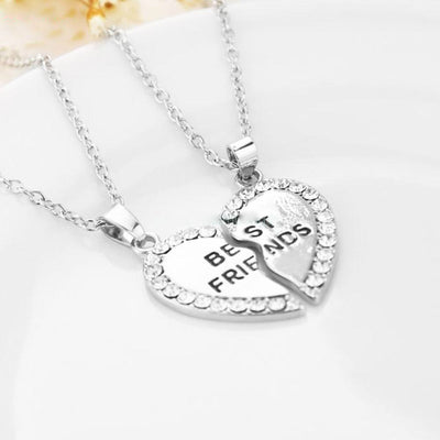 Friendship Heart Pendant Necklace