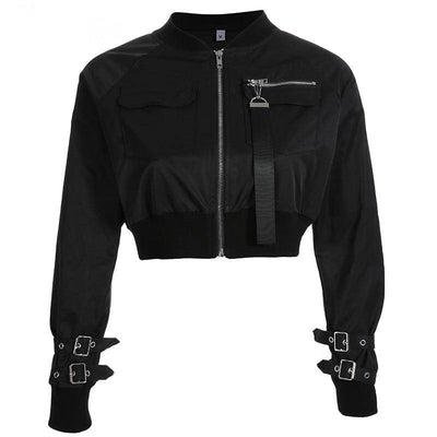 Buckle Short Bomber Jacket