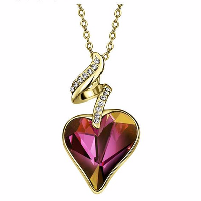 Crystal Heart Rhinestones Love Necklaces