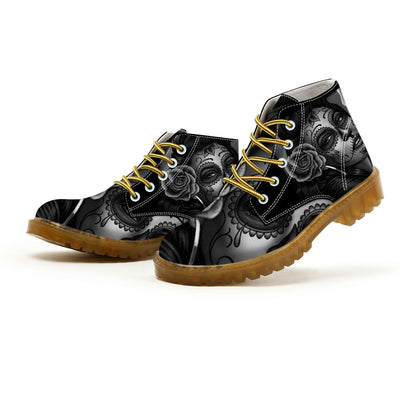 Witch Skull Lace-Up Boots