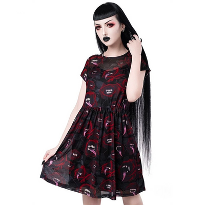 Gothic Red Rose Dress