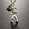 Astronaut & Planet Pendant Necklace