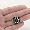 Free - Enamel Moon Phase Necklace