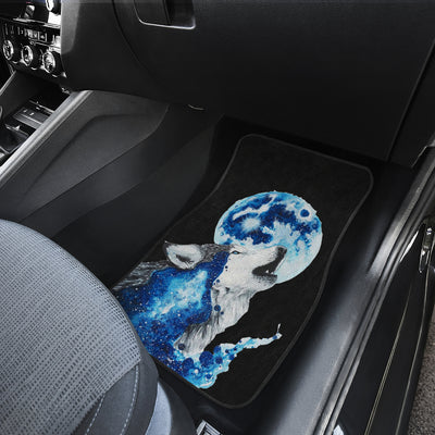 Wolf Full Moon Front Car Mats (Set Of 2)