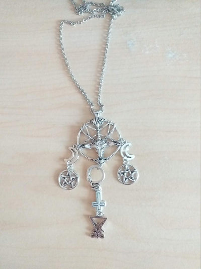 Retro Baphomet Santanic Necklace