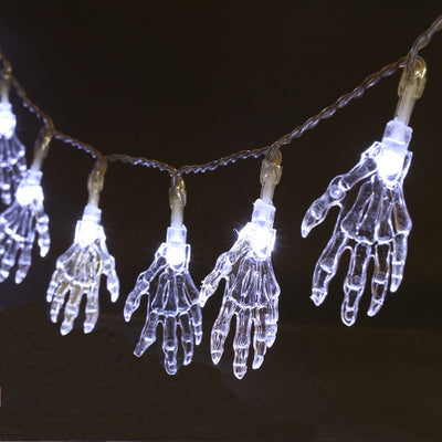Skeleton Hands String Lights