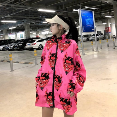 Harajuku Devil Printed Jacket
